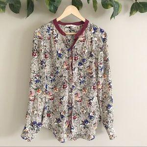 NWOT Rebecca Taylor | 100% Silk Floral Top